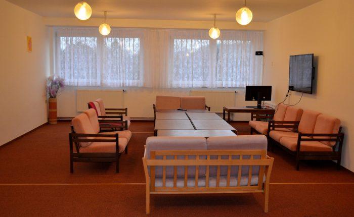 Společenská místnost na internátě